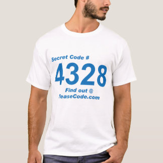 4328 Medium Blue Print T-Shirt