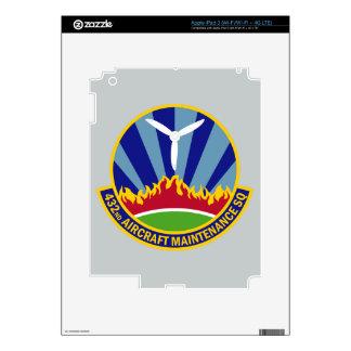 432nd Aircraft Maintenance Squadron iPad 3 Skins