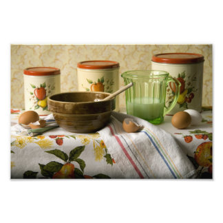 4342 Bowl & Cannisters Still Life Photo Print
