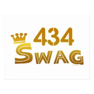 434 Virginia Swag Postcard