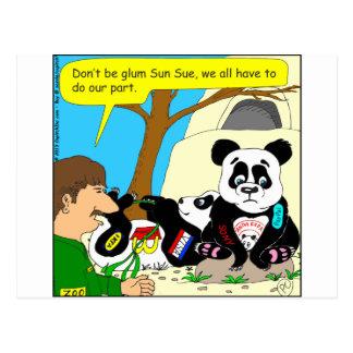 436 panda ads at zoo Cartoon Postcard
