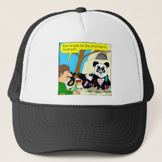 436 panda ads at zoo Cartoon Trucker Hat