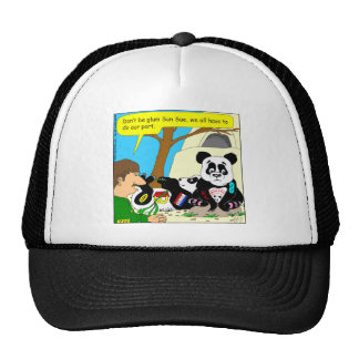 436 panda ads at zoo Cartoon Trucker Hat