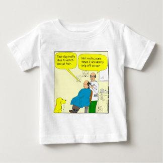 437 snip an ear off - barber cartoon baby T-Shirt