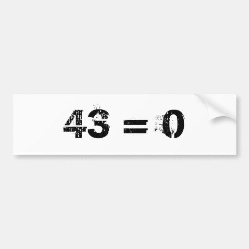 43 = 0 ETIQUETA DE PARACHOQUE