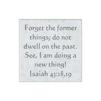 43:18,19 de Isaías del verso de la biblia Imán De Piedra