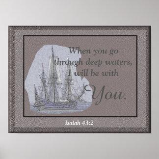 43:2 de Isaías -- impresión del arte