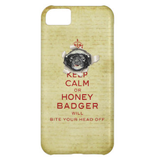 [43.4] Keep Calm or Honey Badger… Case For iPhone 5C