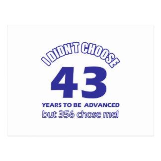 43 años de adelanto postales