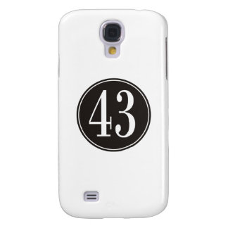 #43 Black Circle Galaxy S4 Cover