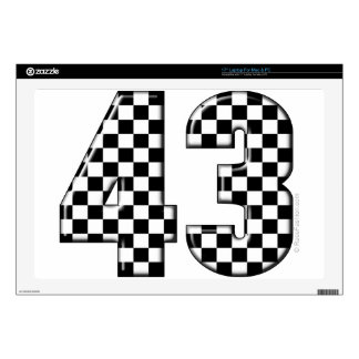 43 checkered number decals for laptops