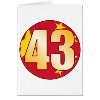 43 CHINA Gold Card