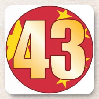 43 CHINA Gold Drink Coaster