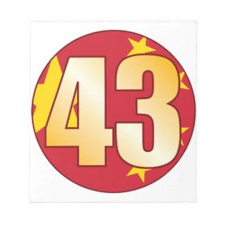 43 CHINA Gold Notepad