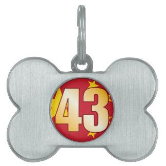 43 CHINA Gold Pet Tag