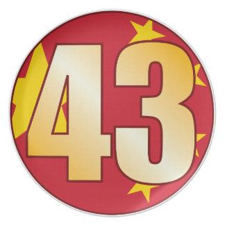 43 CHINA Gold Plate