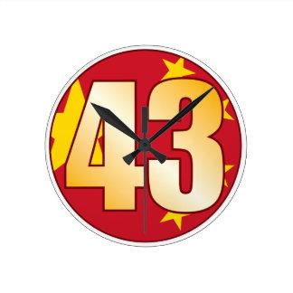 43 CHINA Gold Round Clock