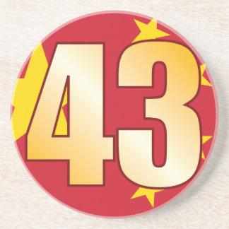 43 CHINA Gold Sandstone Coaster