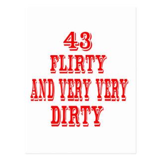 43, coqueto y muy muy sucio postal