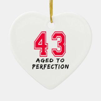 43 envejeció al diseño del cumpleaños de la perfec ornamentos de reyes