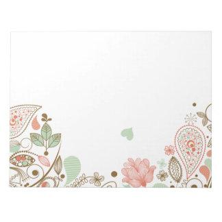 43 floral abstracto lindo bloc de papel