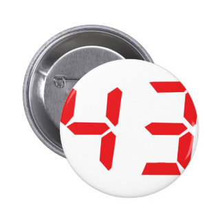 43 fourty-three red alarm clock digital number button
