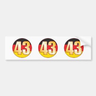 43 GERMANY Gold Bumper Sticker
