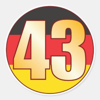 43 GERMANY Gold Classic Round Sticker