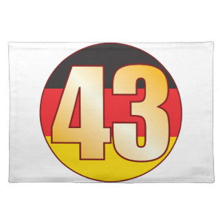 43 GERMANY Gold Cloth Placemat