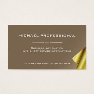 43 Modern Professional Business Card gold brown