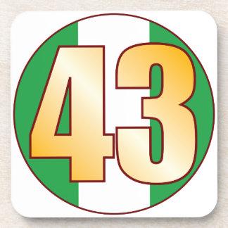 43 NIGERIA Gold Beverage Coaster