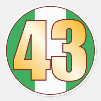 43 NIGERIA Gold Classic Round Sticker