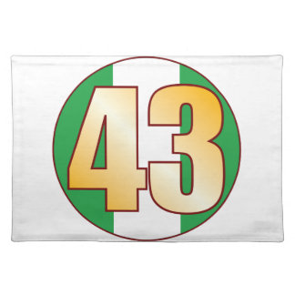 43 NIGERIA Gold Cloth Placemat