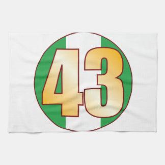 43 NIGERIA Gold Kitchen Towel