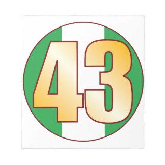 43 NIGERIA Gold Notepad