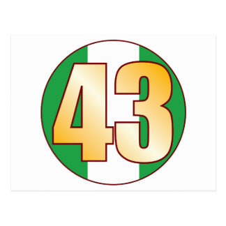 43 NIGERIA Gold Postcard