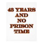 43 ninguna hora de prisión membrete personalizado