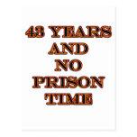 43 ninguna hora de prisión postales