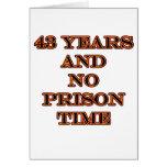 43 ninguna hora de prisión tarjetas