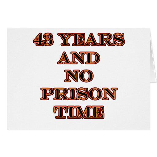 43 ninguna hora de prisión tarjeton