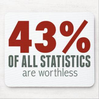 43% of All Statistics (are worthless) Mouse Pad