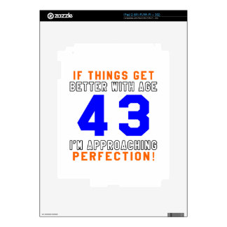 43 Perfection Birthday Designs iPad 2 Skin