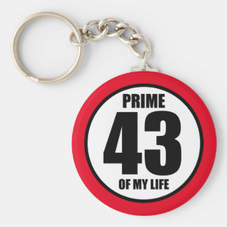 43 - prime of my life keychain