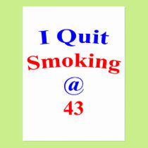 43 Quit Smoking Postcard
