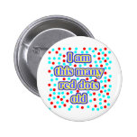 43 Red Dots Old Pinback Button