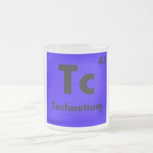 Technetium gifts on zazzle 43 technetium periodic table of elements frosted glass coffee mug urtaz Images
