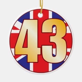 43 UK Gold Ceramic Ornament