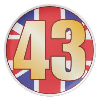 43 UK Gold Dinner Plate