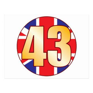 43 UK Gold Postcard