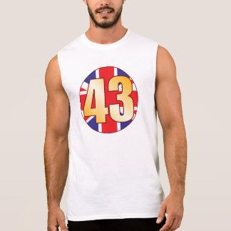 43 UK Gold Sleeveless Shirt